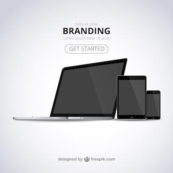 modèle web Branding