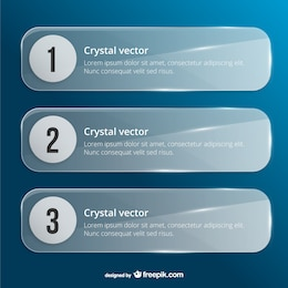 Modèles de bannières cristal
