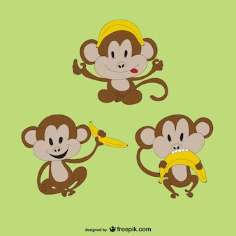 Singe avec la banane