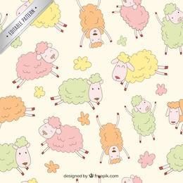 Motif moutons