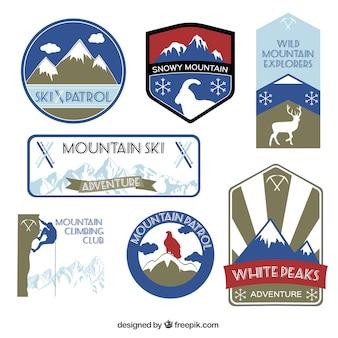 étiquettes de montagne