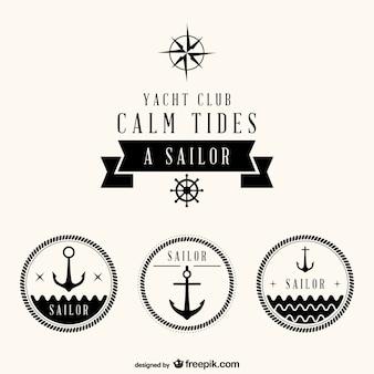 Ensemble nautique de badges gratuits