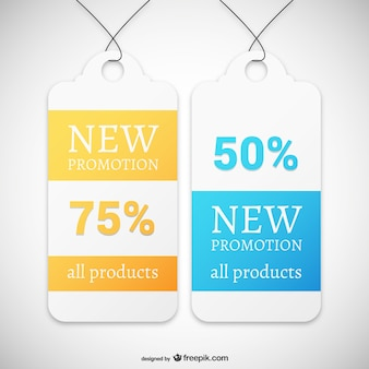 De nouvelles étiquettes de promotion