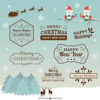 Noël badges collection