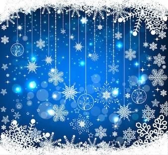 Noël bleu vecteur de fond
