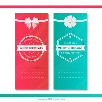 Noël cartes cadeaux modèles