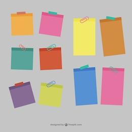 Notes collantes vecteur libre