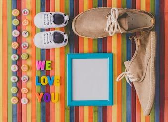 Nous vous aimons pour la fête des nouveau-nés ou des pères