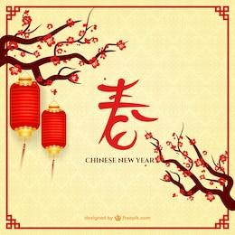 Nouvel An chinois avec des lampes
