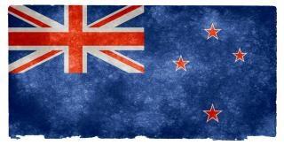 Nouvelle-zélande flag grunge zélande