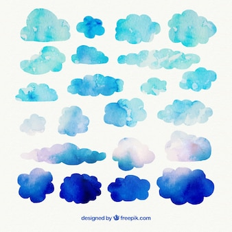 nuages Aquarelle