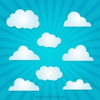nuages de papier