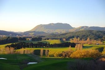 Nuages montage paysage kahuranaki Zélande ciel nouveau
