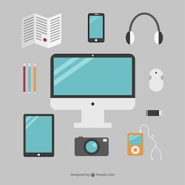 Objets simple bureau collection