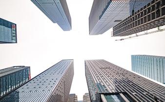 Oeil du soleil tourné métropole urbaine