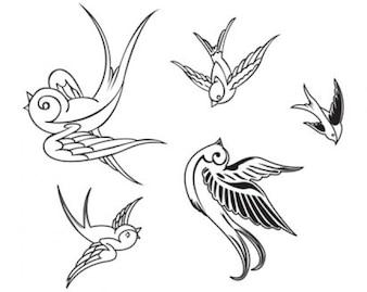 oiseaux vecteur stock
