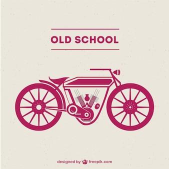 Moto ancienne école vecteur libre