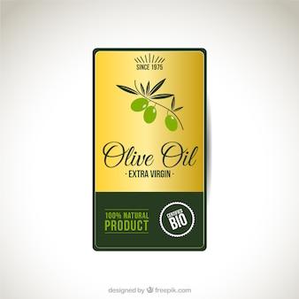 Étiquette de l'huile d'olive