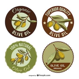 Étiquettes d'huile d'olive