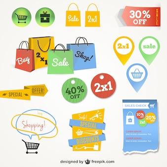 En ligne graphiques de l'interface d'achats