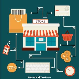 Notion vecteur de boutique en ligne