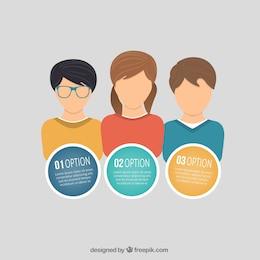 Options de infographiques avec les jeunes