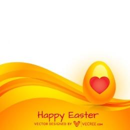 Or Oeuf de Pâques avec le coeur