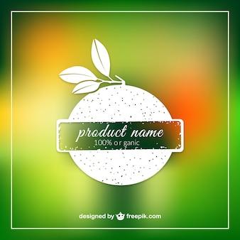Produit organique modèle d'étiquette