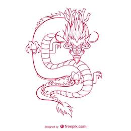 Orientale dessin de dragon