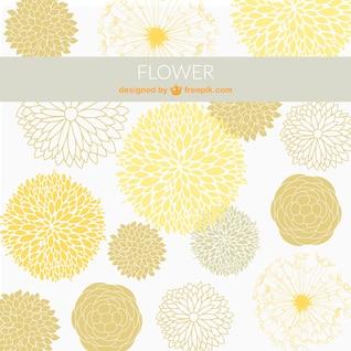 Ornemental fleurs fond