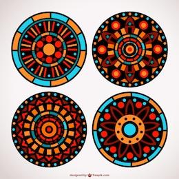 Ornements de mosaïque floral ensemble