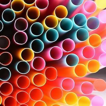 Pailles. Image macro abstraite avec un fond multicolore magnifique.
