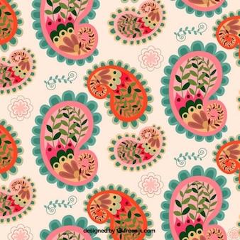 Paisley floral fond
