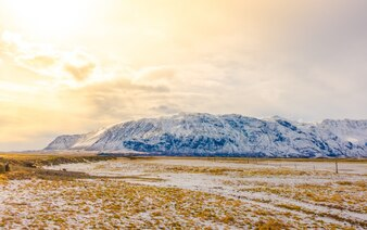 Panorama de la route froid scénique paisible