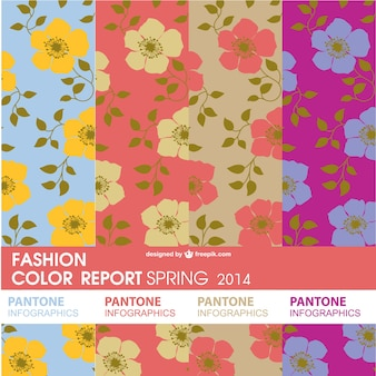 Pantone échantillons floraux ensemble