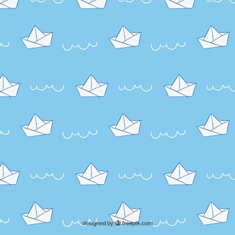 Paper ships motif