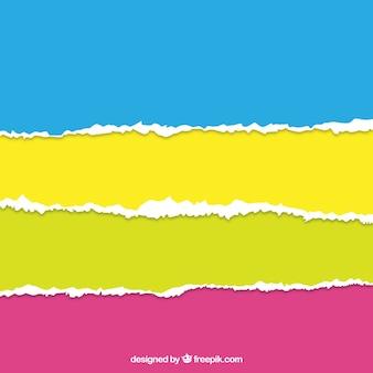 Papier déchiré Colorful