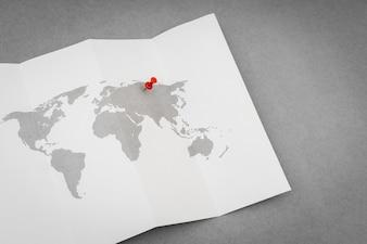 Papier peint carte nation géographie papier
