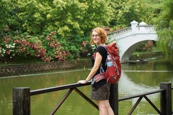Parc Voyage de printemps mignon tropical