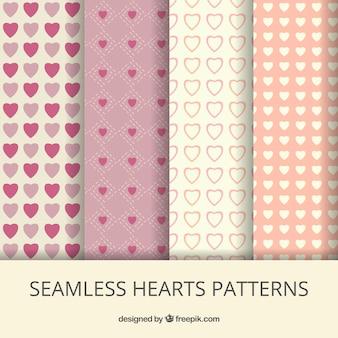 Patterns avec des coeurs