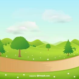 Paysage naturel avec des arbres