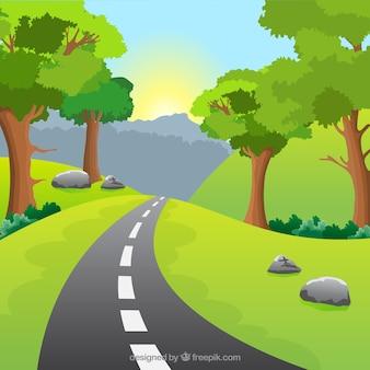 Paysage naturel avec une route