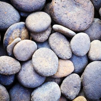 Pebble stone background pour spa avec filtre rétro effet