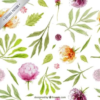 Peint à la main motif de fleurs
