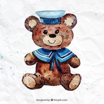 Peint à la main ours en peluche