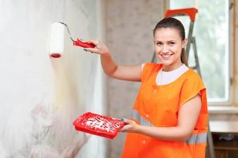 Peintre peintre peint le mur