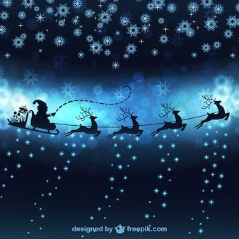 Père Noël avec des rennes