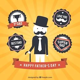 Pères badges de jour