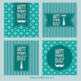 Pères heureux cartes de jour