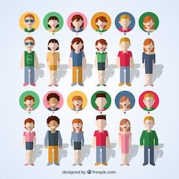 Personnes coloré icônes